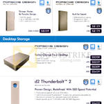Lacie Mobile Exernal Storage, Desktop Storage, Porsche Design, Slim, Mobile Drive, D2 Thunderbolt 2