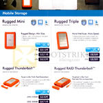 Lacie Mobile External Storage Rugged Mini, Rugged Triple, Thunderbolt, Raid Thunderbolt, 250GB, 500GB, 1TB, 2TB, 4TB