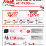 Singtel Fibre Home Bundle, Home Add-On Services, 49.90 1Gbps, 189.00 10Gbps Fibre Home Bundles