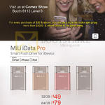 MiLi Smart Flash Drive, IData Pro 32GB 64GB 128GB 256GB