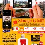 IDrive Card Reader 32GB, 64GB, 128GB
