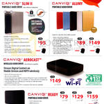 External Storage Canvio Slim II, Alumy, Aerocast, Ready, 1TB 2TB 3TB