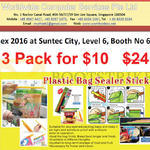 Worldwide Computer Plastic Bag Sealer Stick