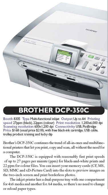 IT Show 2008 price list image brochure of Brother DCP 350C Multi Functional Inkjet Printer