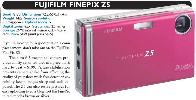 IT Show 2008 price list image brochure of Fujifilm Finepix Z5 Digital Camera