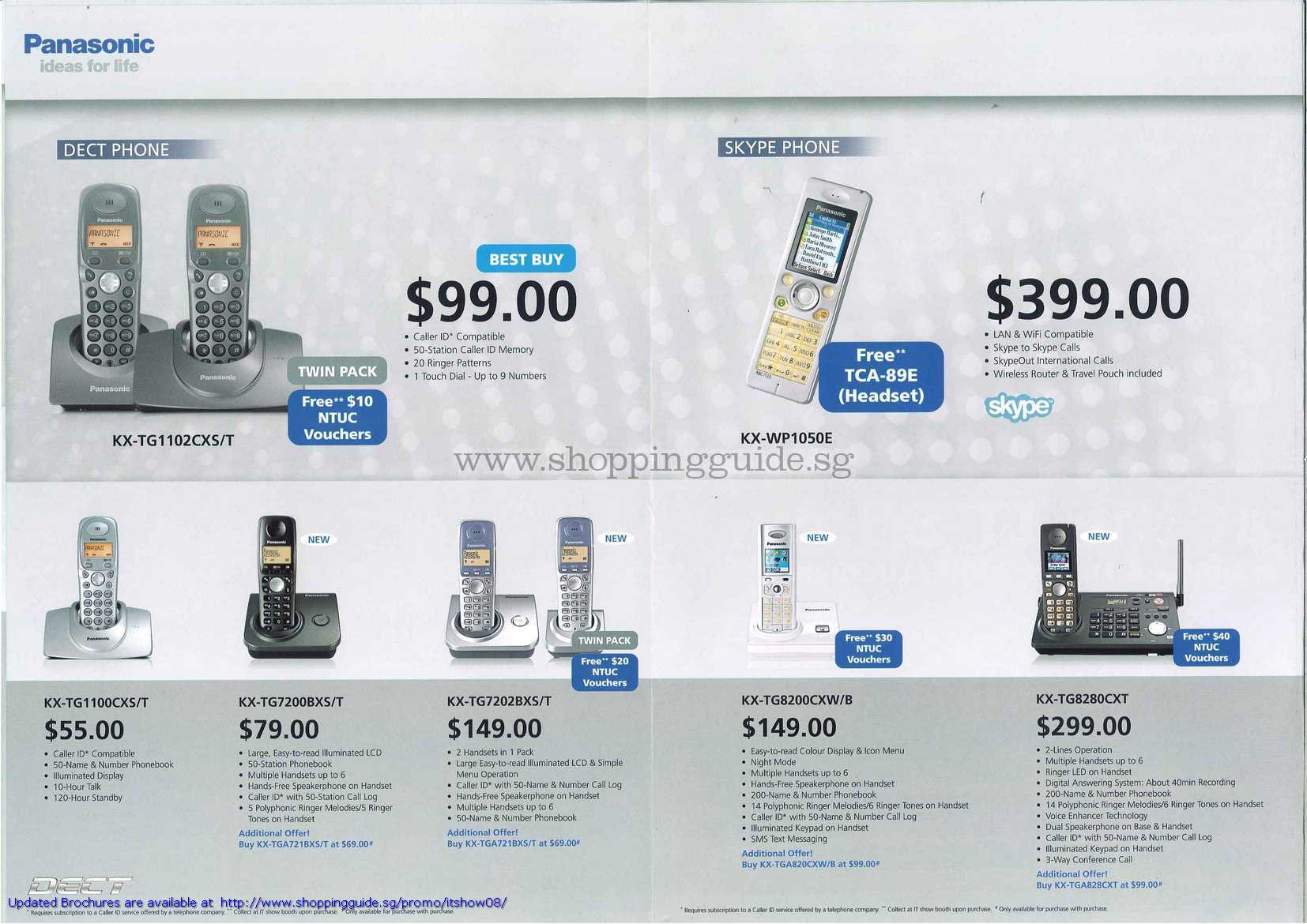IT Show 2008 price list image brochure of Panasonic Dect Phones Skype Phone KX
