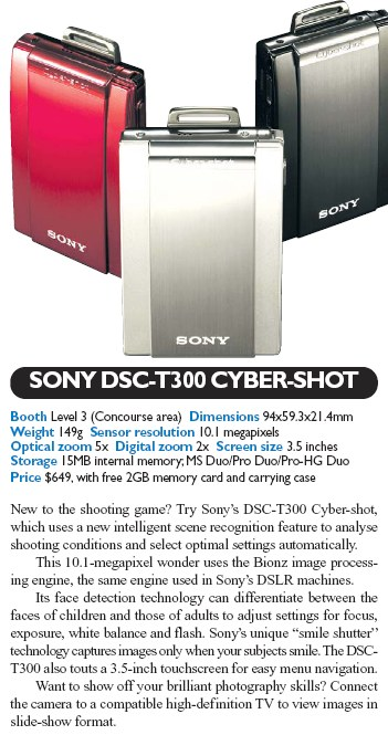 IT Show 2008 price list image brochure of Sony Digital Camera DSC T300 Cybershot