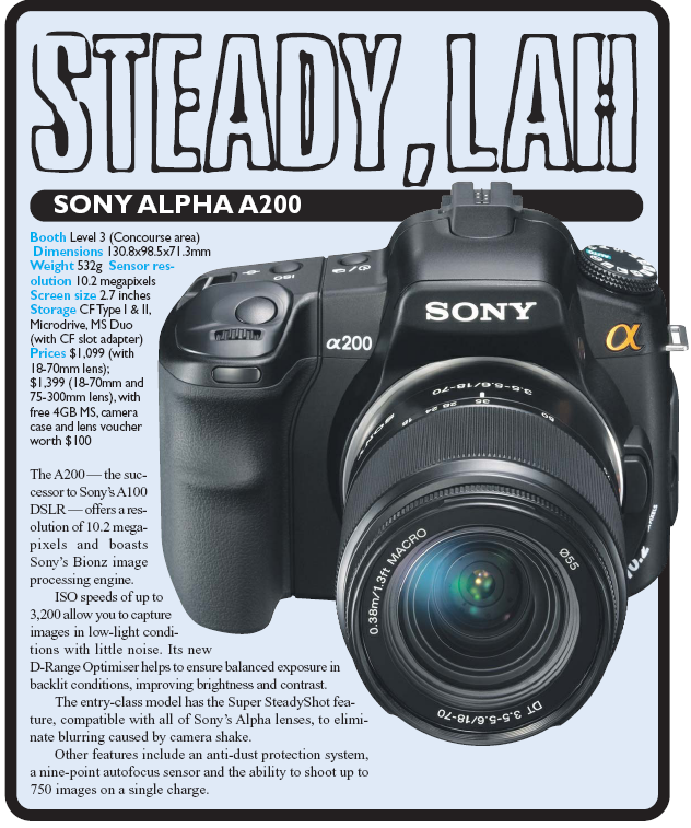 IT Show 2008 price list image brochure of Sony Digital Camera DSLR A200 Alpha