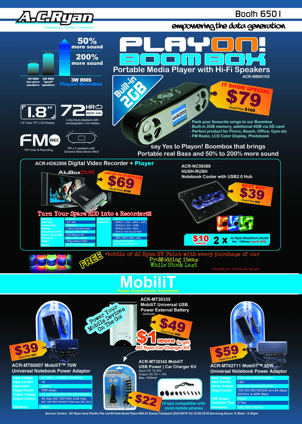 IT Show 2009 price list image brochure of AC Ryan Playon MobiliT