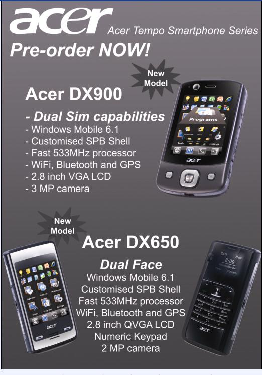IT Show 2009 price list image brochure of Acer Tempo DX900 DX650 Smartphone