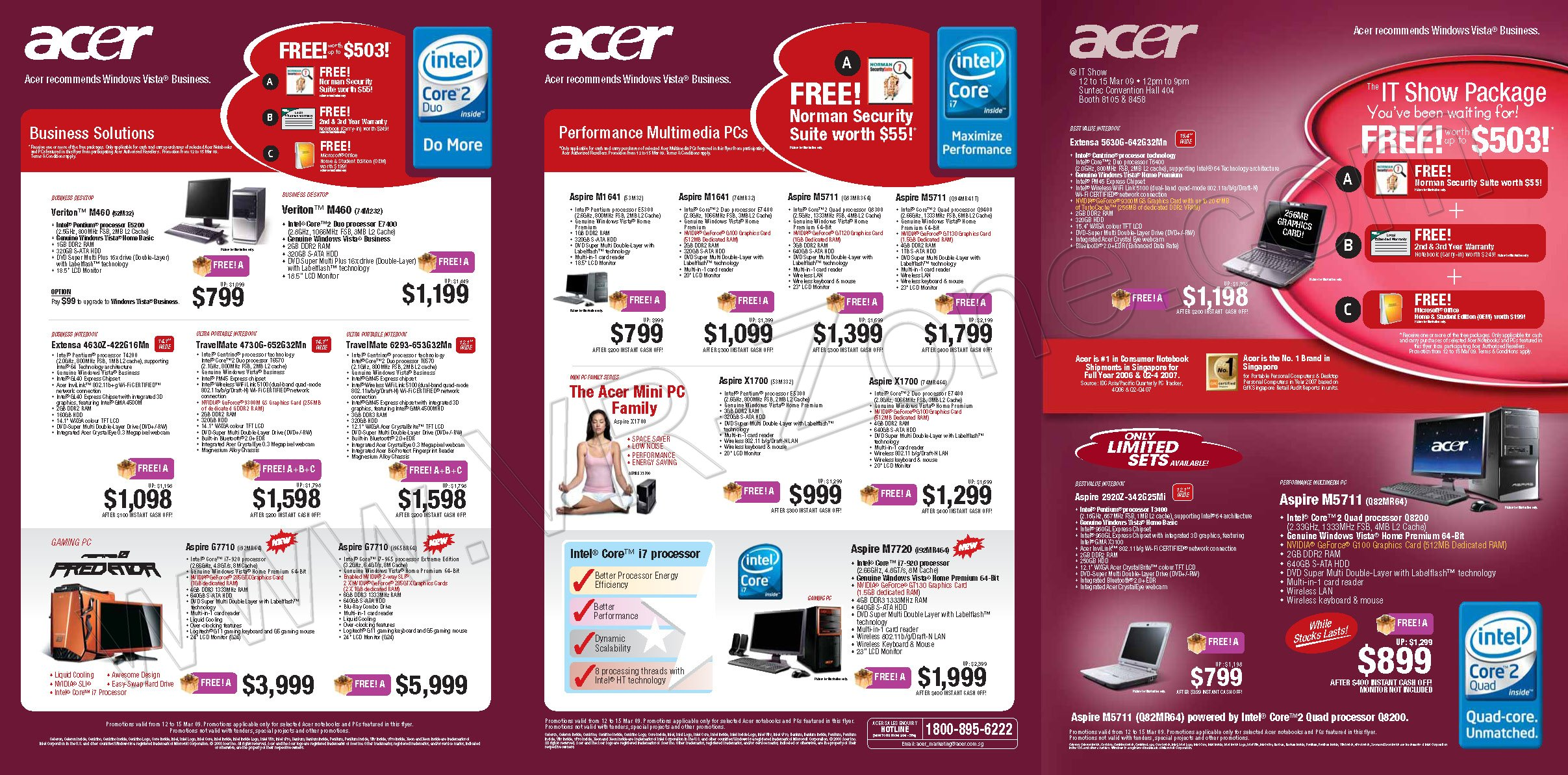 IT Show 2009 price list image brochure of Acer 1 VR-Zone