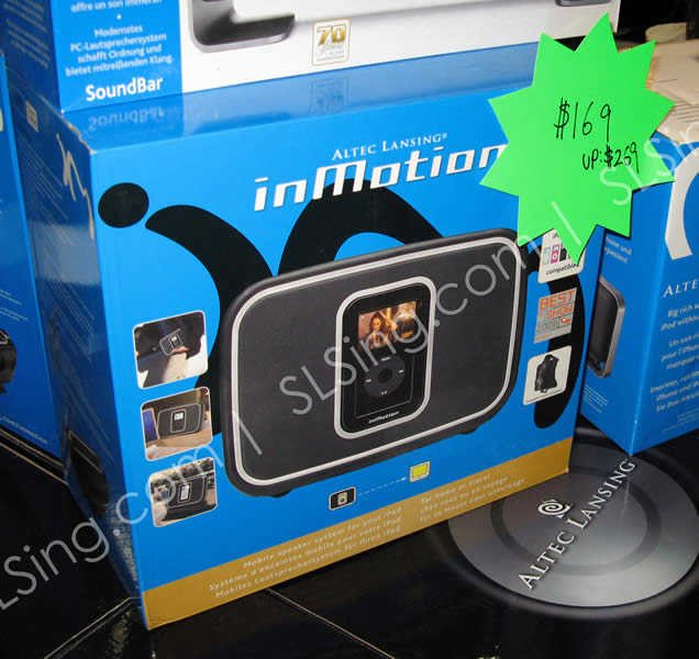 IT Show 2009 price list image brochure of Altec Lansing InMotion (vr-zone Booest)