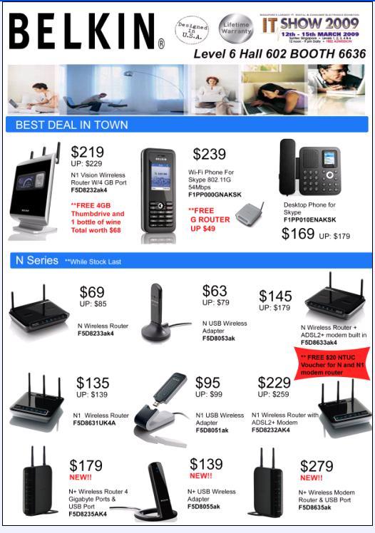 IT Show 2009 price list image brochure of Belkin Front