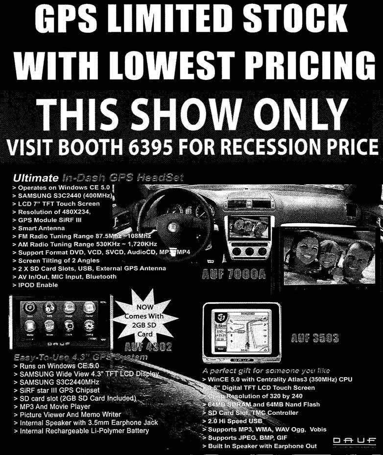 IT Show 2009 price list image brochure of Dauf Ultimate GPS (tclong)