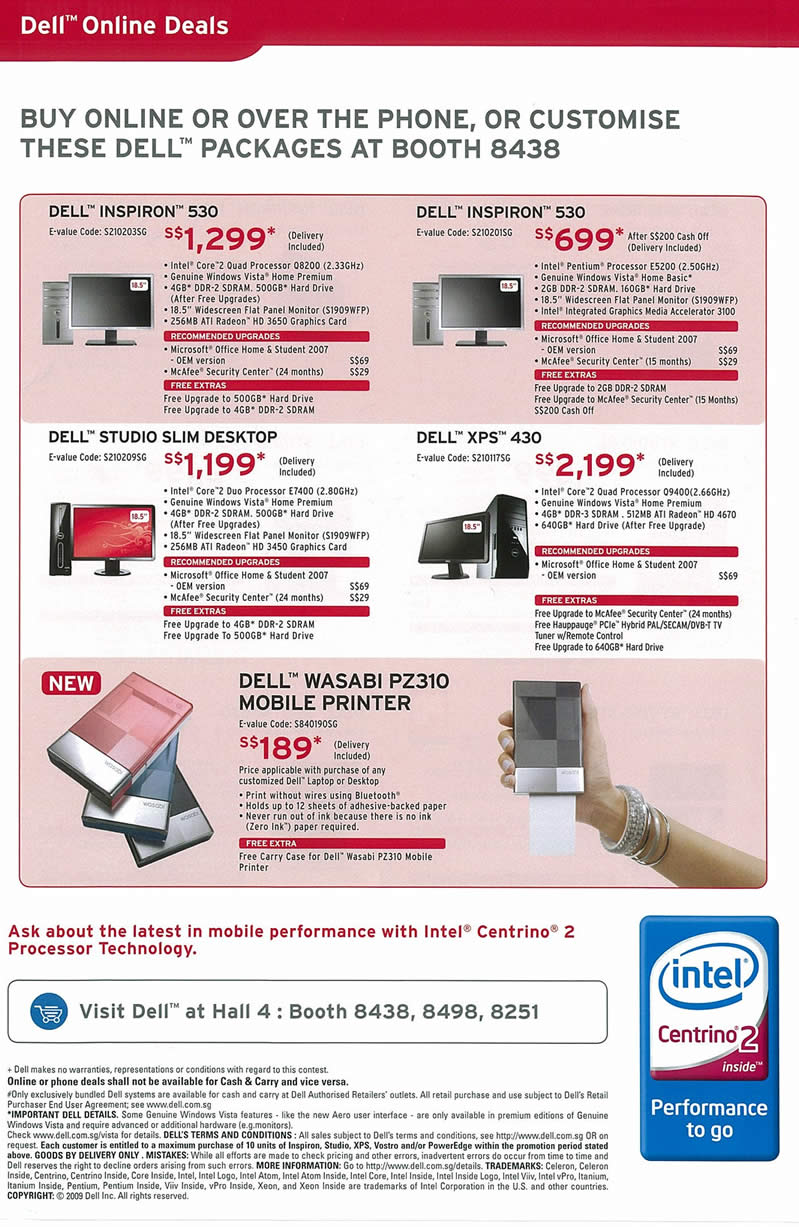 IT Show 2009 price list image brochure of Dell Inspiron Studio XPS Wasabi Tclong