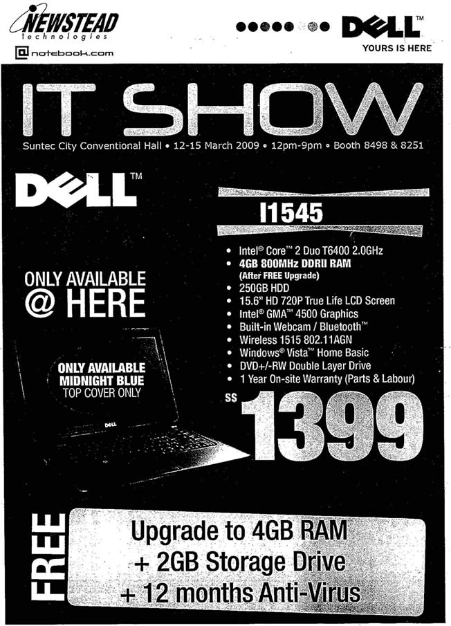 IT Show 2009 price list image brochure of Dell Newstead L1545 Tclong