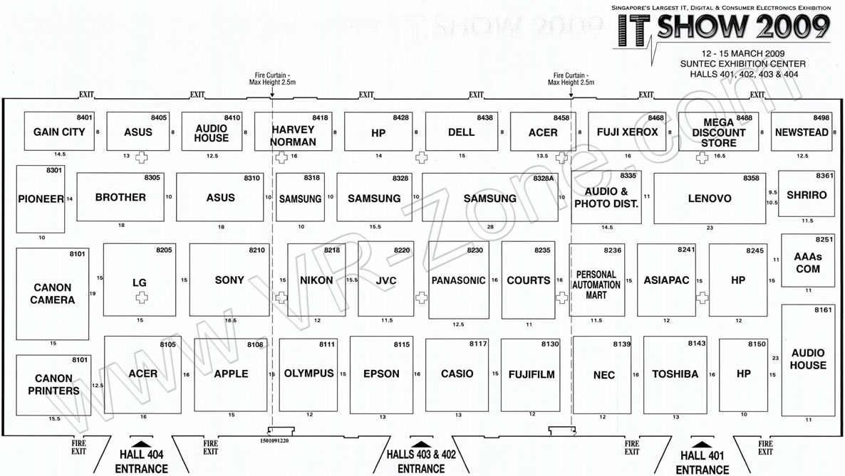 IT Show 2009 price list image brochure of Floor Plan Map Level 4 Vr-zone