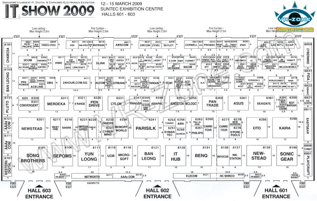 IT Show 2009 price list image brochure of Floor Plan Map Level 6n Vr-zone