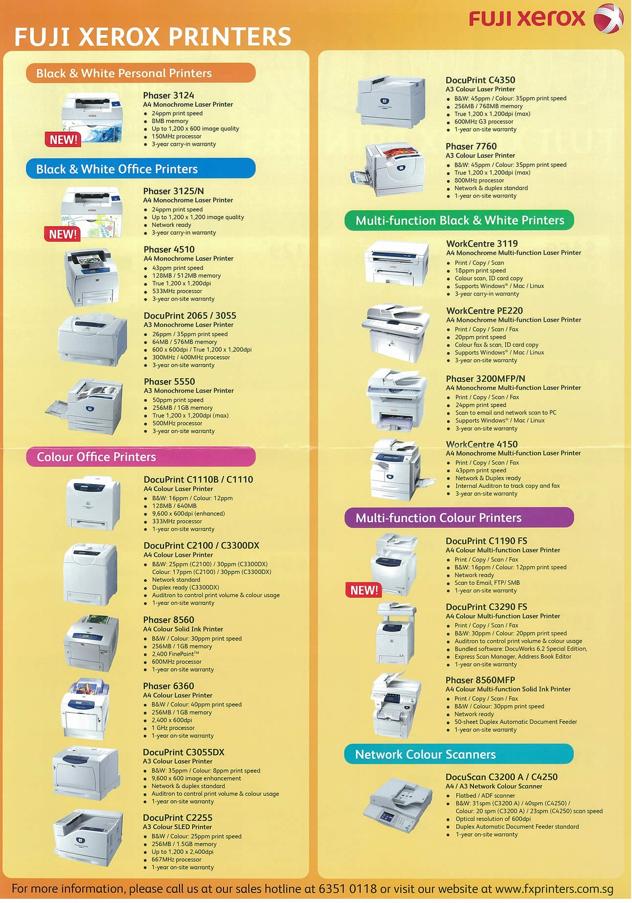 Fuji Xerox Printers Tclong IT SHOW 2009 Price List Brochure Flyer Image