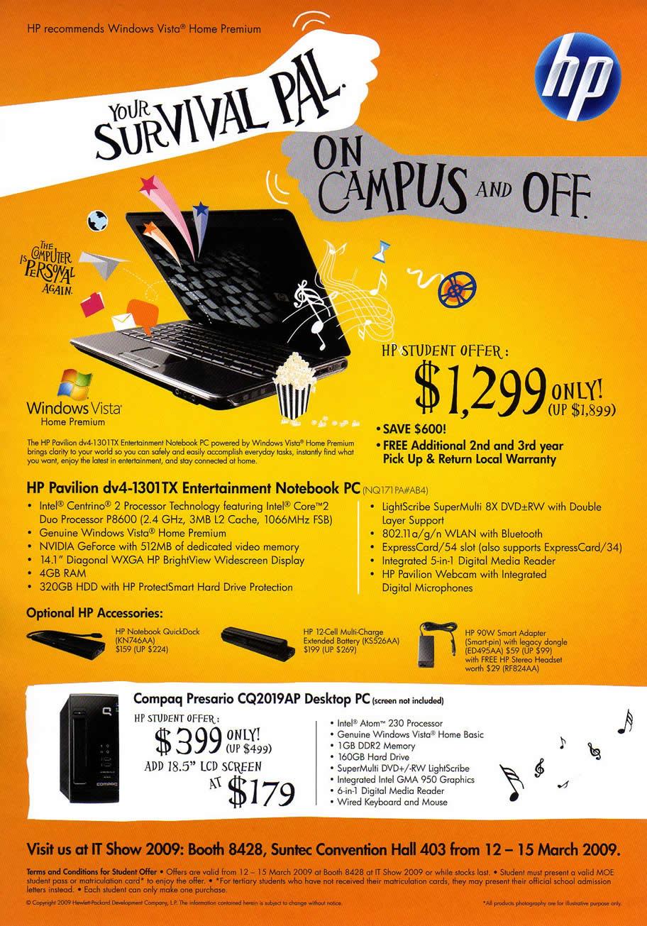 Hp notebook desktop - It Show 2009 Price List Image Brochure Of Hp Notebook Student Offer Desktop Pc Coldfreeze