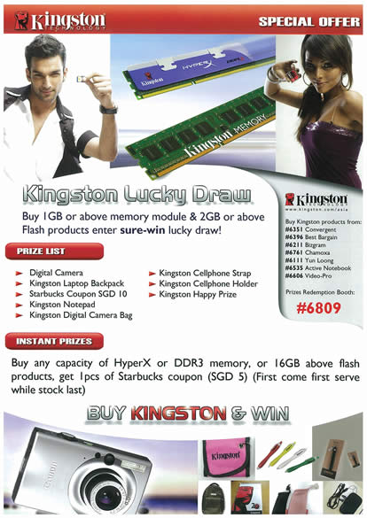 IT Show 2009 price list image brochure of Kingston Lucky Draw (tclong)
