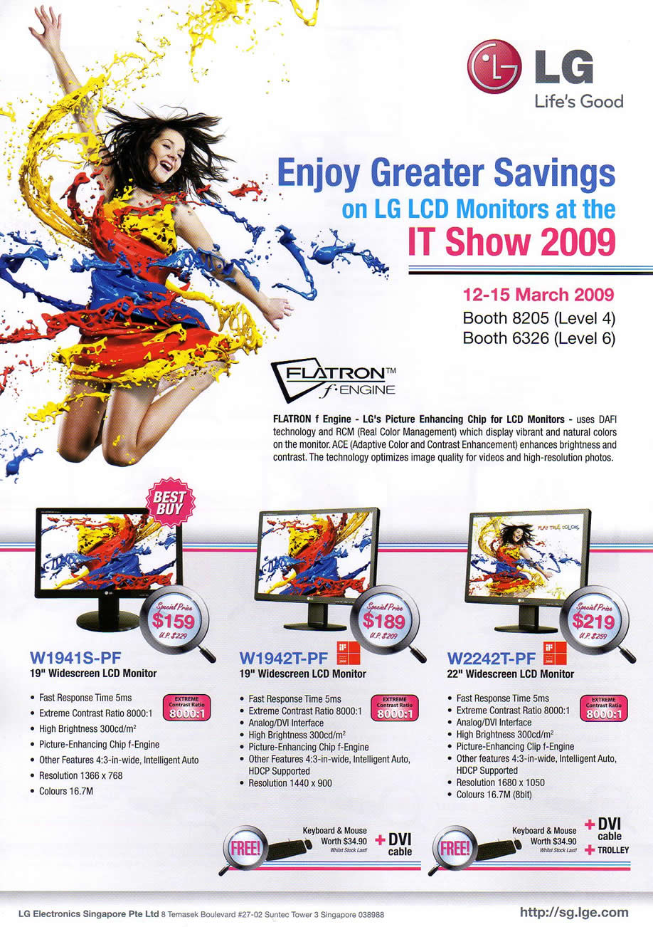 IT Show 2009 price list image brochure of LG LCD Monitors (coldfreeze)