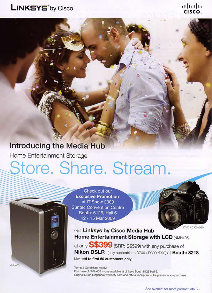 IT Show 2009 price list image brochure of Linksys Media Hub (coldfreeze)