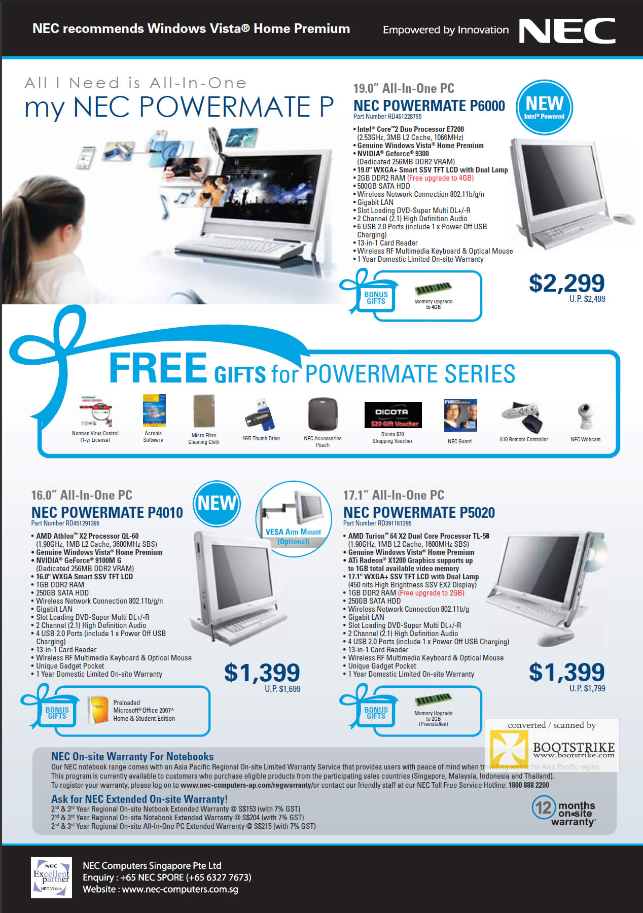 IT Show 2009 price list image brochure of NEC Versa Laptops 4
