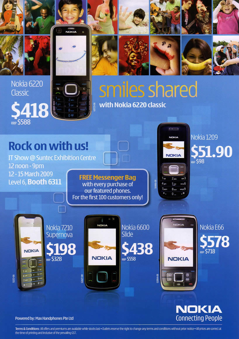 IT Show 2009 price list image brochure of Nokia 2 (coldfreeze)