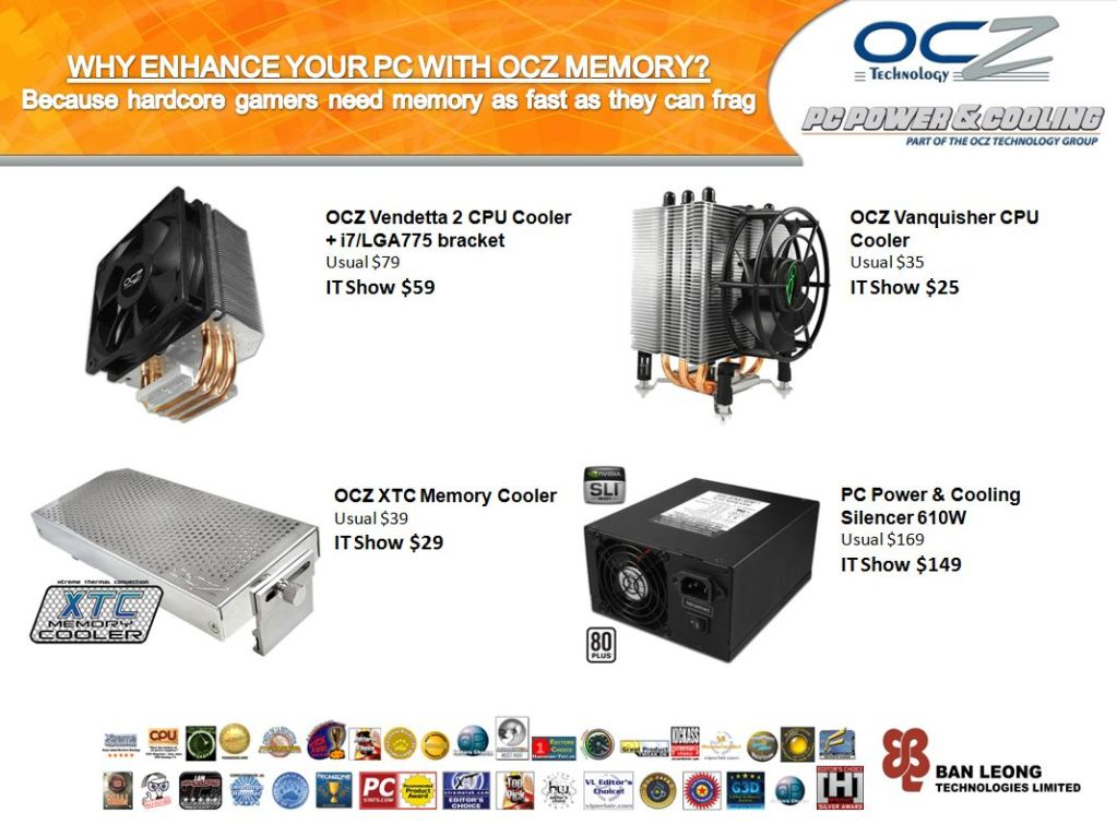 IT Show 2009 price list image brochure of OCZ Cooler (Ban Leong)