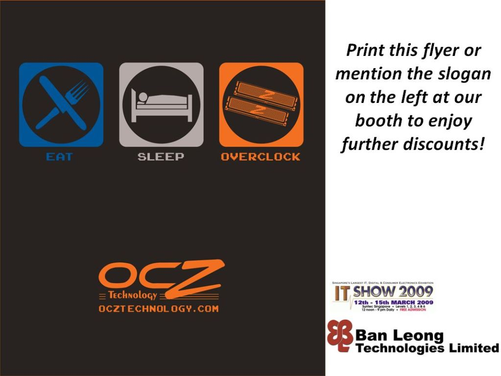 IT Show 2009 price list image brochure of OCZ Discounts (Ban Leong)