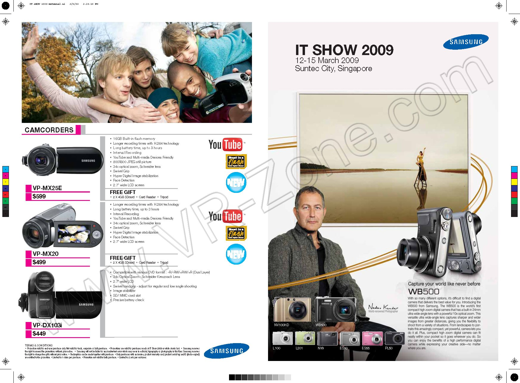 IT Show 2009 price list image brochure of Samsung Digicam Camcorders 2 VR-Zone