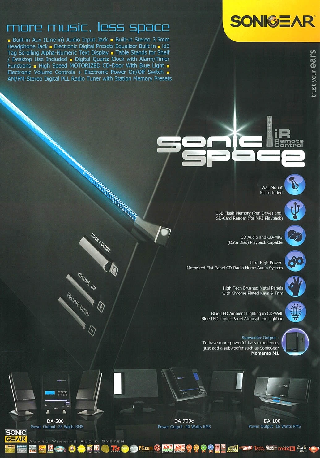 IT Show 2009 price list image brochure of Sonicgear Sonic Space Tclong