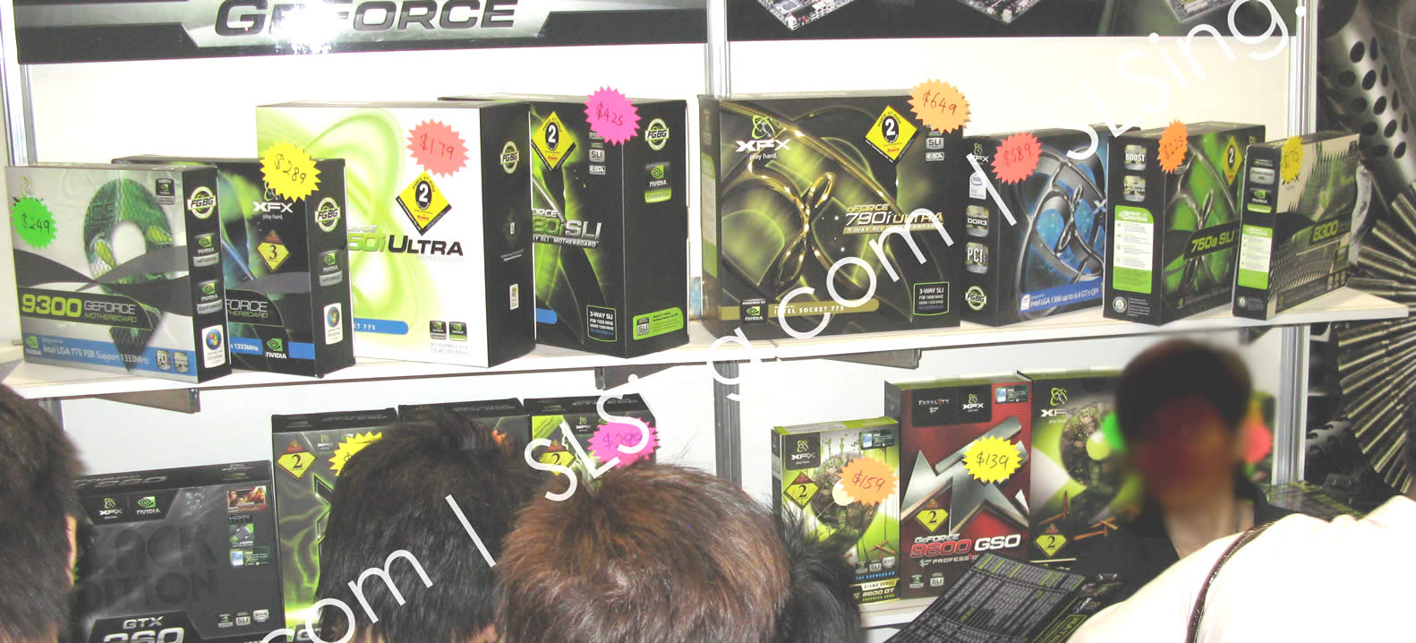 IT Show 2009 price list image brochure of Xfx Geforce (vr-zone Booest)