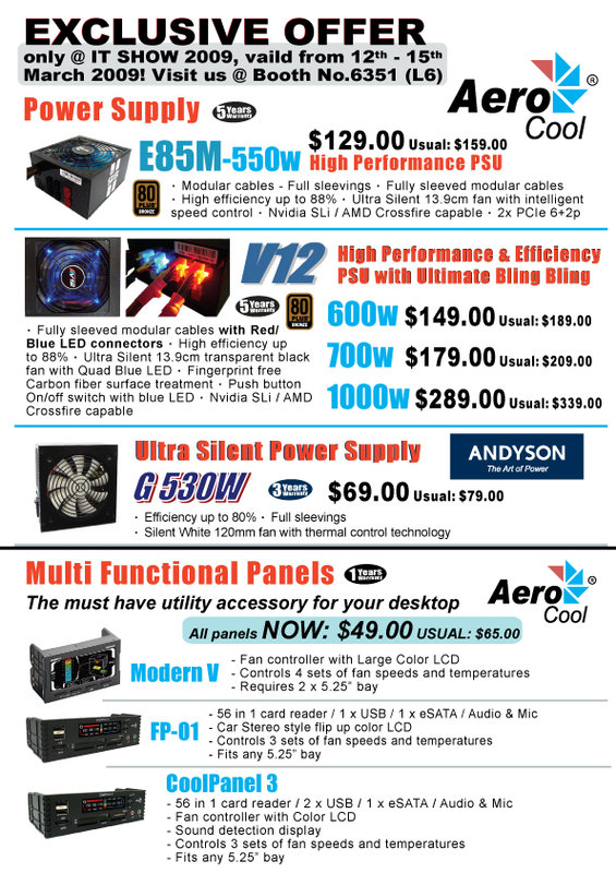 IT Show 2009 price list image brochure of Aerocool Palita 4 Pg1 (convergent)
