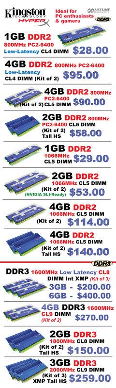 IT Show 2009 price list image brochure of Kingston Hyperx (convergent)