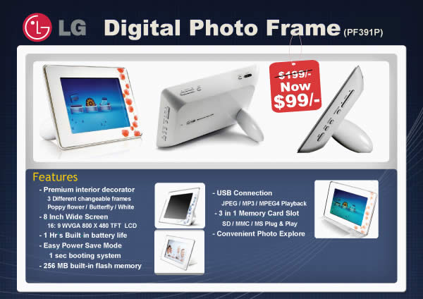 IT Show 2009 price list image brochure of Lg Photo Frame Poster (convergent)
