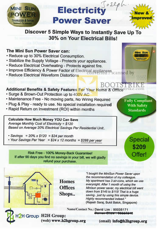 Electricity Saver Card Price