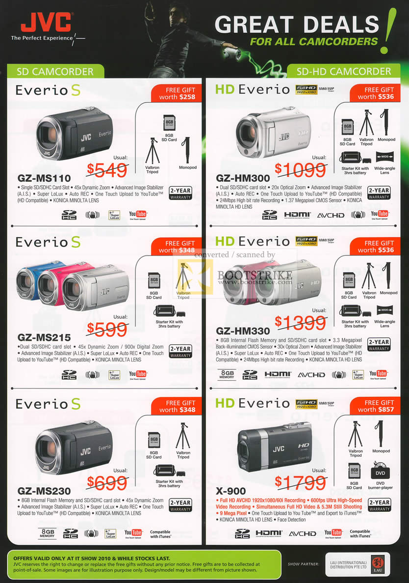 Jvc Camcorders Everio S Gz Ms110 Hm300 Ms215 Hm330 Ms230 X