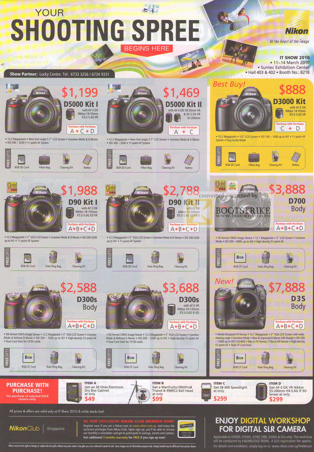 Camera List Of Dslr Cameras With Price nikon digital slr camera dslr d5000 d3000 d90 d700 d300s d3s it show 2010 price list image brochure of d90