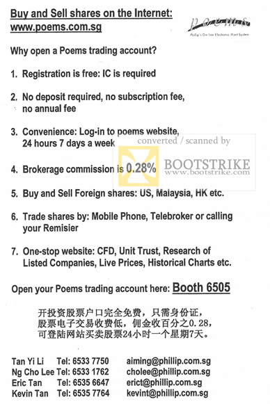 IT Show 2010 price list image brochure of Poems Trading Account
