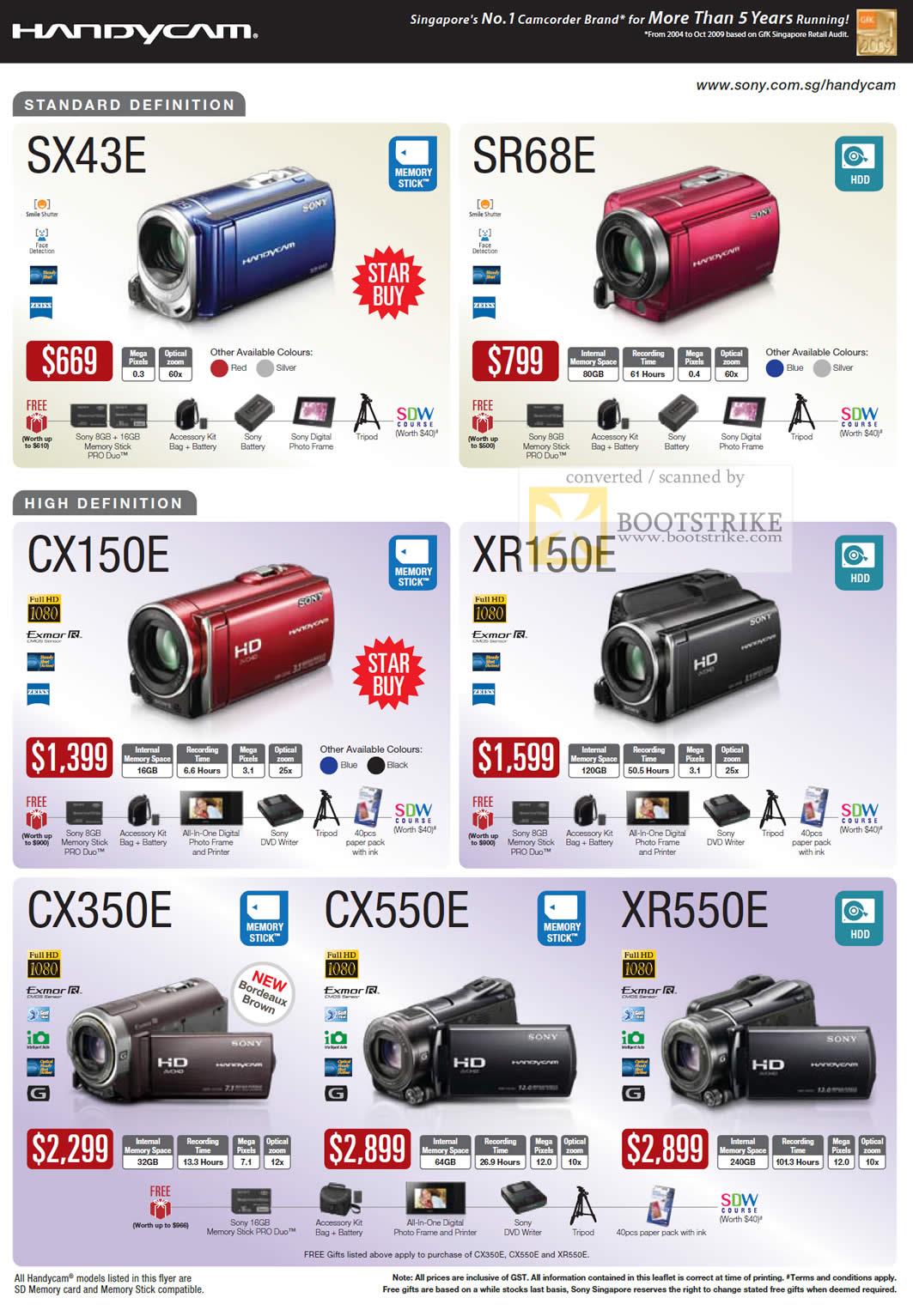 Sony Handycam Video Camcorder SX43E SR68E CX150E XR150E ...