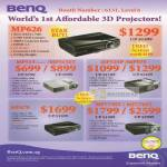 BenQ Projectors 3D MP626 MP515 MP515ST MP525P MP575 MP670 MP772ST MP776ST