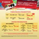 Twin Packs Ink Cartridge Promotion Paper 4R A4
