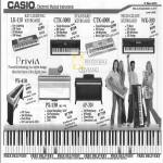 Casio Electronic Musical Instruments Keyboard LK 110 CTK 3000 4000 WK 500 Privia PX 410 130 AP 200 Piano
