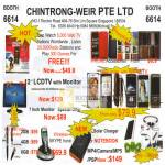 Chintrong Weir Internet Radio LCD TV Monitor Wireless Skype Phone Solar Charger IPhone Casing