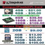 Convergent Systems CompactFlash CF Card Secure Digital Memory Cards SDHC