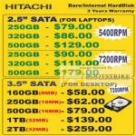 Systems Hitachi Notebook Desktop Internal Harddisk SATA