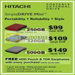 Systems Hitachi SimpleDrive Mini External Storage Drive