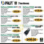 Convergent Systems Palit NVidia Geforce 8400GS 210 GT220 GT240 GTS250 GTX285